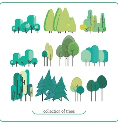 Flat design nature landscape vector
