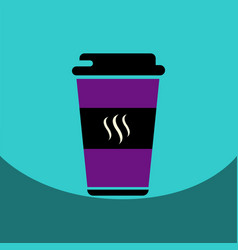 flat icon design collection coffee to go vector image vector image