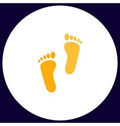 Footprint computer symbol vector