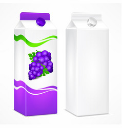grapes juice package vector image vector image