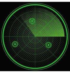 Green radar screen pop art style vector