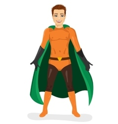handsome young man in superhero costume vector image vector image