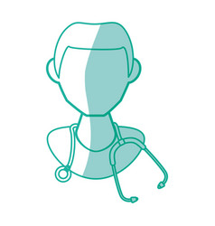Isolated doctor face vector