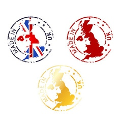 Made in uk stamp vector