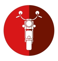 Motorcyle speed transport steel red circle vector