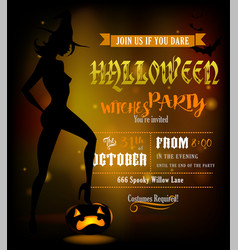 poster for halloween party vector image