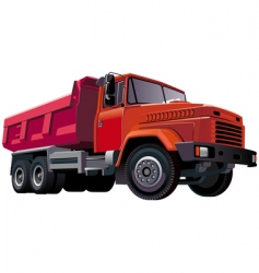 Red dumper vector