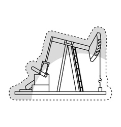 Refining plant isolated icon vector