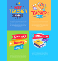 School event four posters vector