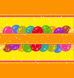 Seamless background with balloons vector