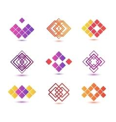 Set of abstract geometric logos vector