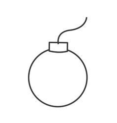 simple bomb icon vector image