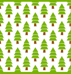 Simple hand drawn seamless christmas pine vector