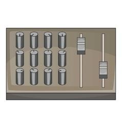 Sound mixer pult icon cartoon style vector
