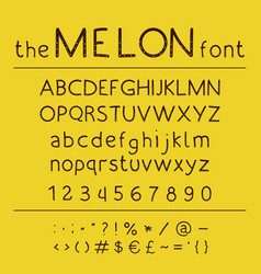 Stylish abc retro cute hand drawing font - vector