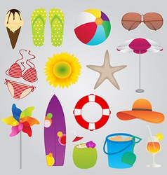Summer And Travel Icons Set vector image