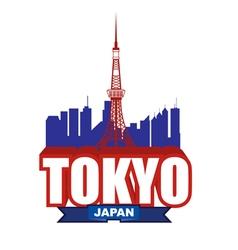 Tokyo blue vector
