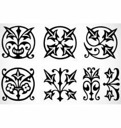 tribal ornaments vector image