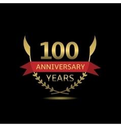 100 anniversary years vector