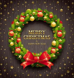 Christmas decorative wreath vector