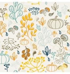 Autumn seamless pattern elements design of leaf vector