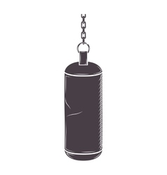 Silhouette chains hanging a bag weight vector
