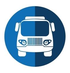 Truck small cargo transportation blue circle vector
