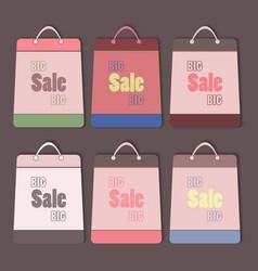 big sale bags set vector image