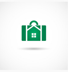 Housebag icon vector