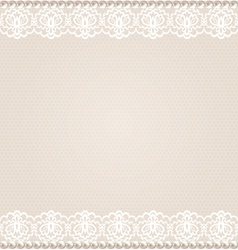 card with lace floral border vector image