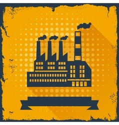 Industrial factory building background vector