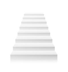 White empty staircase steps for business vector