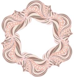 Hexagonal pink frame vector image