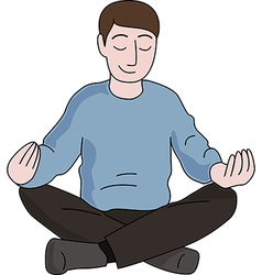 Meditation man vector