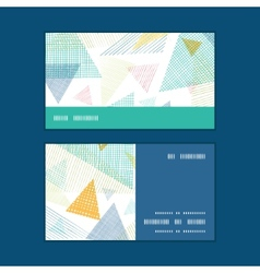 Abstract fabric triangles horizontal stripe frame vector