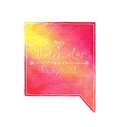 Watercolor bubble vector