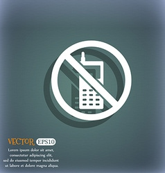 Mobile phone is prohibited icon symbol on the vector