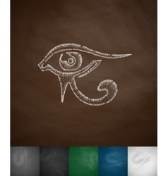 Eye of horus icon vector