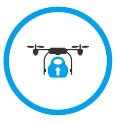 Nanocopter load cargo icon vector