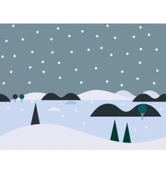 Seamless cartoon nature snowy landscape vector