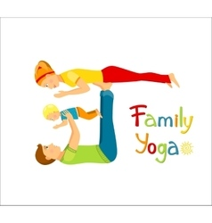 Family practicing yoga vector