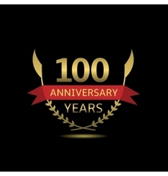 100 anniversary years vector