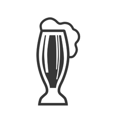 Glass icon beer design graphic vector