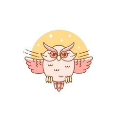 Abstract owl isolated on white vector image