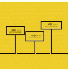 Abstract yellow background with black signs vector
