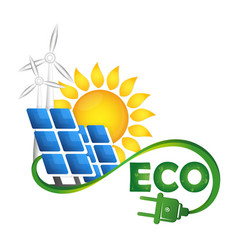 alternative sources of energy eco symbol vector image vector image