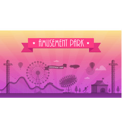 amusement park - modern vector image vector image