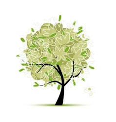 Art tree green for your design vector image
