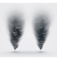 Black smoke vector