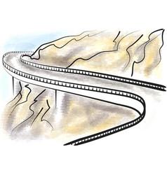 Blue ridge parkway vector